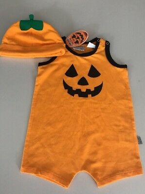 Peter Alexander Halloween Romper And Matching Hat Size 6-9 Months 00 BNWT