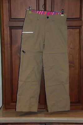 Girls The North Face Beige Convertible Cargo Hiking pants/shorts size M (10/12)