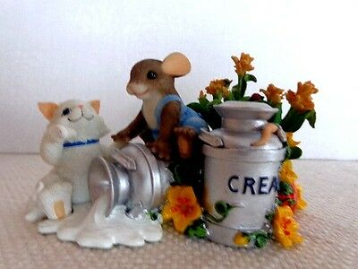 """Fitz & Floyd Charming Tails """"You're The Cream Of The Crop"""" Item : 85/524"""