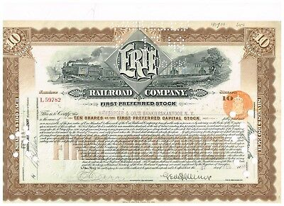 Erie Railroad Co., 1936, 10 shares, First Preferred
