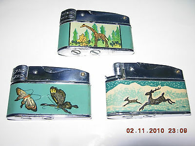 3 VINTAGE ANIMALS / INSECTS LIGHTERS (CHINA 1970s)