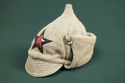 Sz57 1935  WW2 RED ARMY HEADGEAR BUDENOVKA RKKA helmet CAP HAT Black Star Cocade