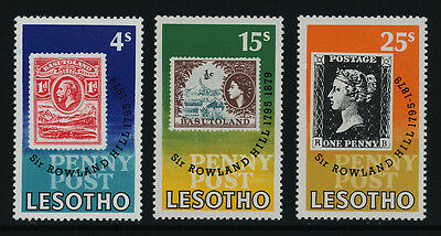 Lesotho 274-7 MNH Stamp on Stamp, Rowland Hill