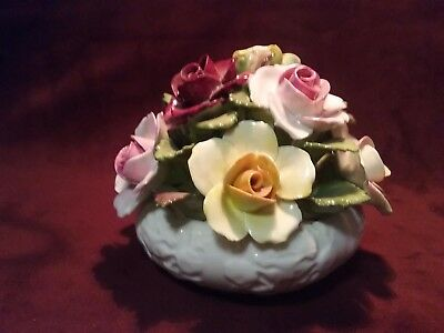 Aynsley Bone China Hand Modelled &  Painted  Rose Bouquet Arrangement