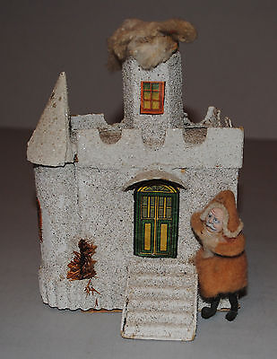 Santa House Candy Container Vintage