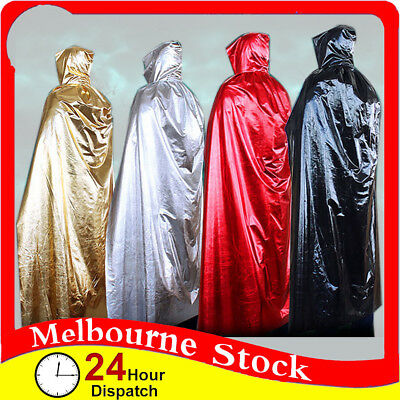 Halloween Hooded Cloak Wicca Robe Medieval Witchcraft Long Cloak Cape Costume