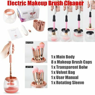 Electric Brush Makeup Brushes Cleaner Washing Clea &Dry Wash Cleanning Tools Y8