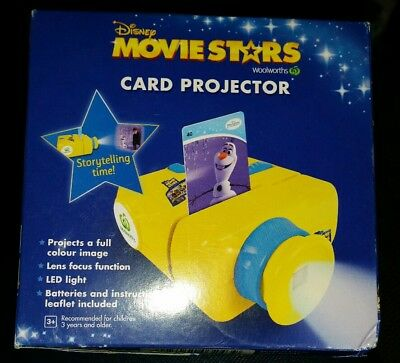 NEW Woolworths Disney Movie Stars Projector Yellow! For Disney Movie Cards