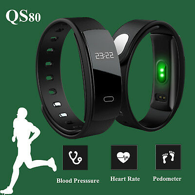 Sports Blood Pressure Bluetooth Band Heart Rate Smart Watch Bracelet Pedometer
