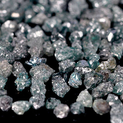 8.00 Cts Earth-mined Sparkling Uncut Africa Mines Blue Diamonds Tiny Roughs Lot
