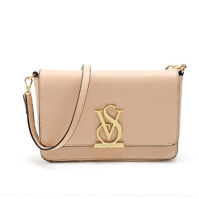 Victoria's Light Pink Crossbody Bag VS Clutch With Strap, New