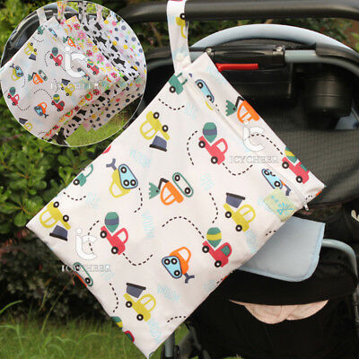 Colorful Diaper Bag Reusable Washable Wet Dry Cloth Waterproof Nappy Diaper Bag