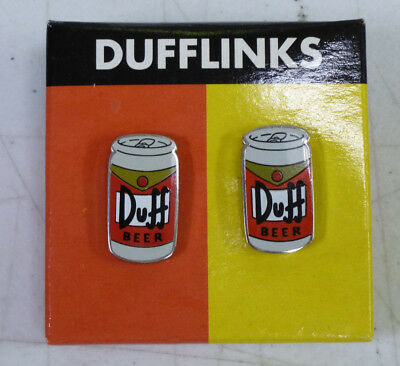 Pair Of Simpsons Duff Beer Cufflinks