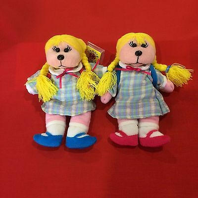 "Skansen Beanie Kids   "" JESSICA the SCHOOL GIRL COMMON & MUTATION BEAR """