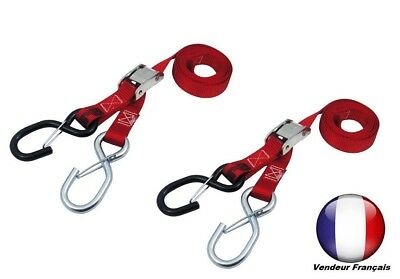 pair of STRAPS trailer scooter motorcycle cross enduro trail Red DIE DOWS MX