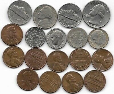 U S A collection of coins. (38)