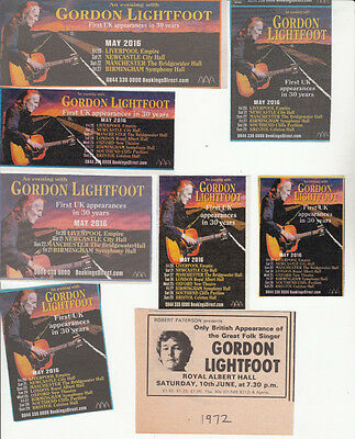 GORDON LIGHTFOOT : CUTTINGS COLLECTION -adverts-