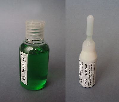 GERMICIDE LIQUID - 50 ml+10 ml (2 bottles) - For safety razors - Desinfectante