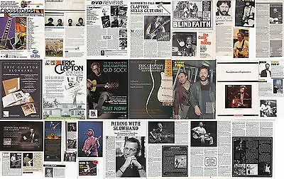 ERIC CLAPTON : CUTTINGS COLLECTION -adverts interview-