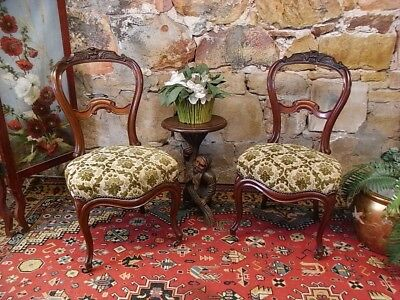 Pair Antique French Louis Style Hall~Lounge Chairs~Dining/Bedroom~2of4