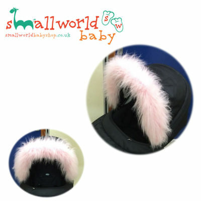 Girls Pink Fur Pram Hood Trim Accessory