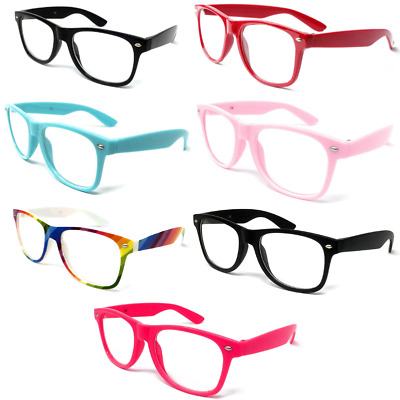 KIDS Novelty CLEAR LENS Glasses Frames Boys Girls Fancy Dress Geek Nerd Fashion