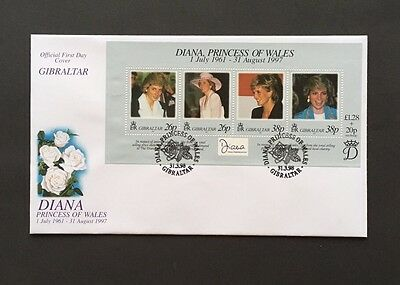 1998 DIANA, PRINCESS OF WALES COMMEMORATION Mini Sheet FDC