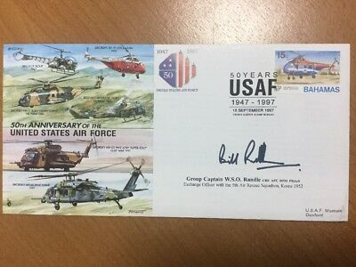 1997 JS(CC)34 50th Ann. USAF Flown Cover Signed W S O Randle Special Postmark