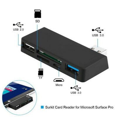 USB 3.0 to Micro TF/SD card HUB Adapter/Card Reader OTG for Surface Pro 5 in 1