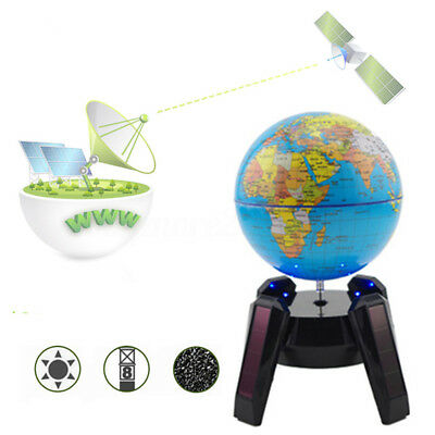 Electric Automatic Rotary World Globe Earth Atlas Map Geography Education Gift