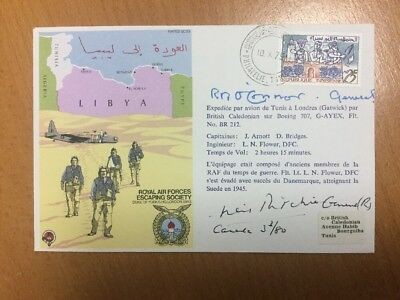1975 RAF Escaping Society Flown & Signed Cover