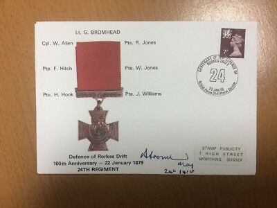 1979 Defence Of Rorkes Drift 24th Regiment Signed Cover BF 2441 PS Postmark