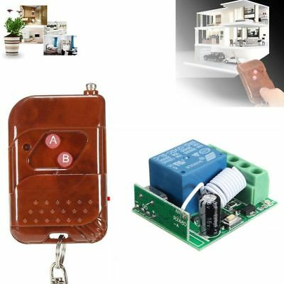 DIY DC 12V 10A relay 1CH Wireless RF Remote Control Switch Transmitter +Receiver