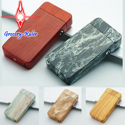 Patterned Electric USB Windproof Plasma Dual Arc Rechargeable Lighter For Cigar