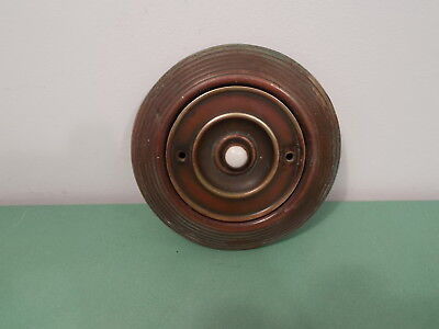 Large Victorian Brass & Ceramic Electric Door Bell Push (Reclaimed, antique)