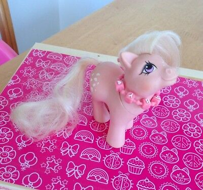 Vintage G1 80's My Little Pony Baby Cotton Candy And Baby Necklace Accessory