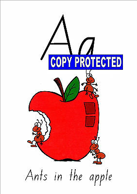 Teacher Resource- Alphabet chart A-Z frieze wall display- ants in the apple