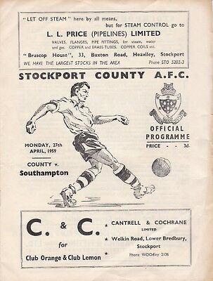 Two Stockport Programmes 1959,1960