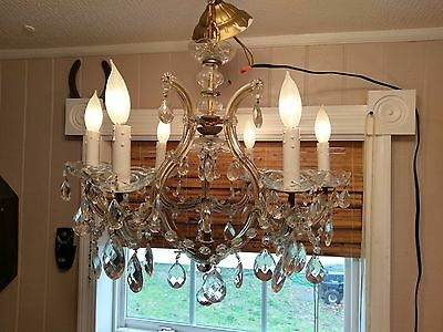 1930s French Crystal Chandelier Stunning Must See!!!