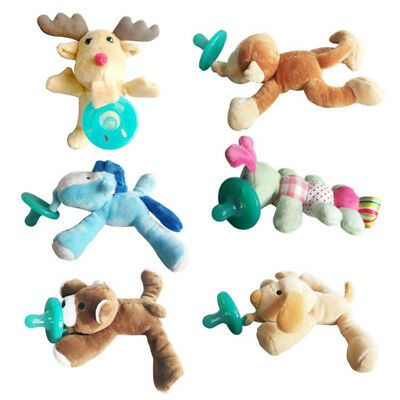 New Infant Baby Soothie Pacifier Binkie Holder With Animal Toy U Pick