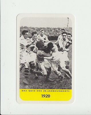 Rugby Union : attractive German collectable game card