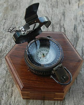 Solid Brass Compass British Prismatic Compass With Storage Case