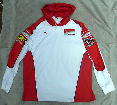 DUCATI CORSE HOODED TOP by PUMA. Made in ITALY. Polyseter/Elastomere MOTOGP. 3XL