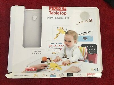 Stokke Tripp Trapp Table Top Tray - Play, Learn, Eat - with 6 templates