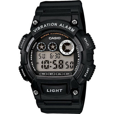 Casio Mens Digital Sports Wrist Watch Alarm StopWatch 100m Black Resin