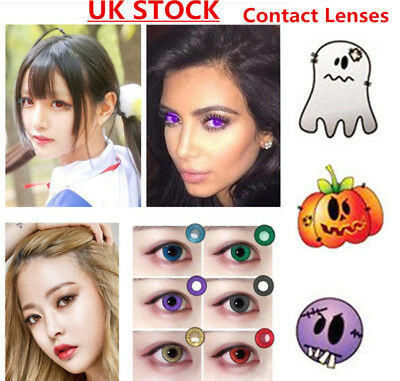 Coloured Contact Lenses Crazy Halloween Coloured Cosmetic Makeup Cosplay lens 2S