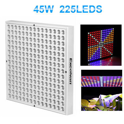 45W Led Grow Light Lámpara Luz Panel Hidropónica Cultivo Interior Vegatal Planta