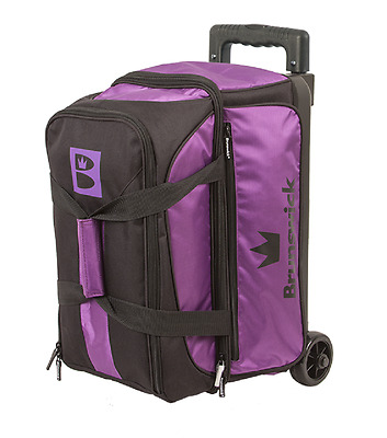 Brunswick Blitz 2 Ball Roller Bowling Bag Color Purple