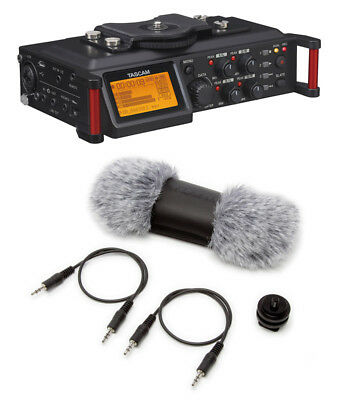 Tascam DR-70D 4-Channel Audio Recorder and Accessories Bundle (NEW)