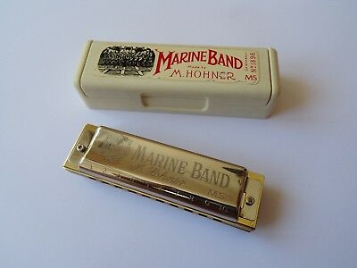 Rare Hohner Marine Band  MS, vintage harmonica, discontinued model – key of D